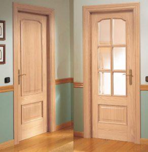 A wooden internal door.