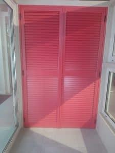 Pink aluminium louvers