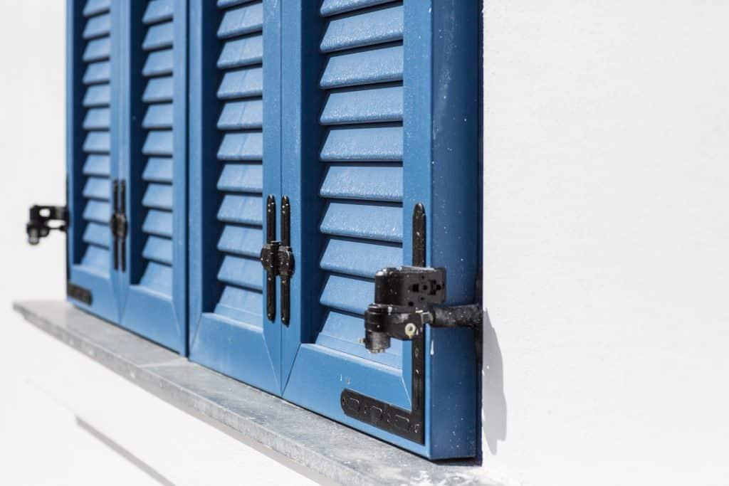 Blue UPVC Louvers